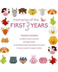 Memories of the First 3 Years (girl) Record Book and Origami Mobile Kit