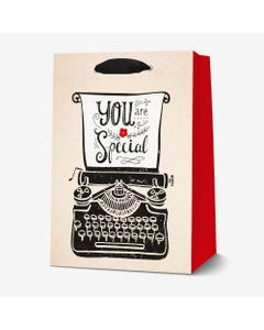 GIFT BAG - LARGE - TYPEWRITER