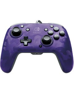 PDP Nintendo Switch Faceoff Deluxe+ Audio Wired Camo Purple Controller