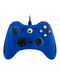Nacon Vibrating Gaming Controller With Wire For PC, 6 Buttons, Blue.-qatar