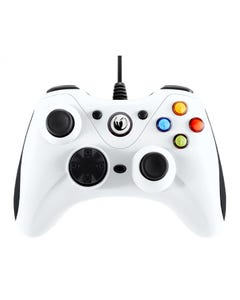 Nacon Vibrating Gaming Controller With Wire For PC, 6 Buttons, White.-qatar
