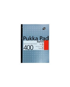 A4 Refill Pad  400 pages Metallic Blue Color Pukka Pad