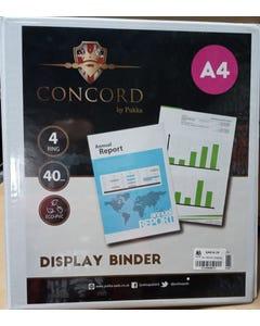 A4-40mm Display Binder 4 Ring Mech Pukka Pad