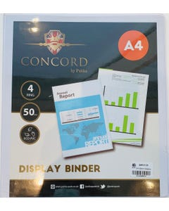 A4-50mm Display Binder 4 Ring Mech Pukka Pad