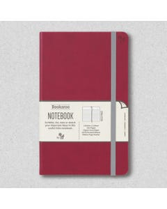 Notebook JOURNAL A5, 192 Page Lined, PU cover, Dark Red - Bookaroo