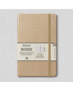 Notebook JOURNAL A5, 192 Page Lined, PU cover, Gold - Bookaroo