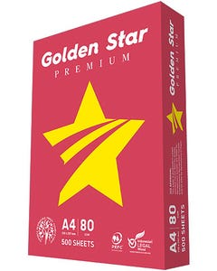 A4 Paper Photocopy Golden Star 80 GSM White