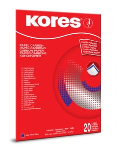 Kores Carbon Paper Blue A4 21x29,7cm in folder with 20 sheets