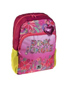 """Busquets Backpack One Side, 15.5in, Padded base, PINK JUNGLE """" Dim 29,0 x 40,0 x 12,0 cm """""""