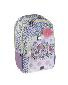 """Busquets Backpack Double Side, 17.5in, Padded base, COOL NATURE """" Dim 30,0 x 45,0 x 15,0 cm """""""