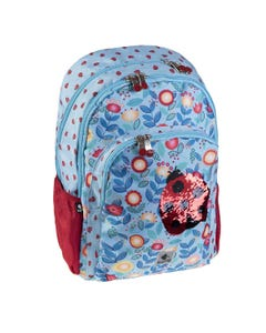 """Busquets Backpack Double Side, 17.5in, Padded base, LADYBUG """" Dim 30,0 x 45,0 x 15,0 cm """""""