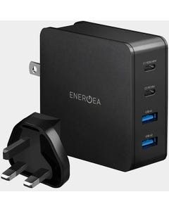 ENERGEA TRAVEL LITE PD66 DUAL USB-C POWER DELIVERY TRAVEL CHARGER - BLACK