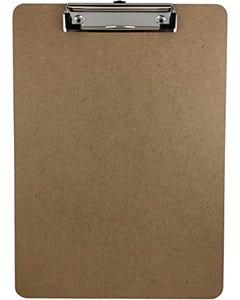 Clip Board Wooden Metal Clip with Rubber Edge A4 Oak