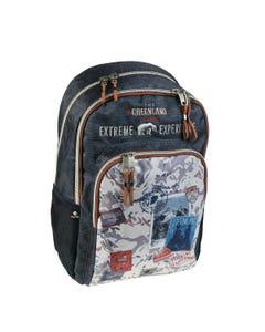 """Backpack Double 17.5 inch GREENLAND """" Dim 30,0 x 45,0 x 15,0 cm """"-qatar"""