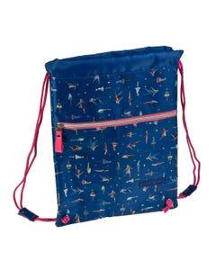 """Backpack Drawstring DOLORES PROMESAS """" Dim 31,5 x 42 x 1,5 cm  """"-qatar"""