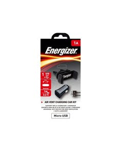 ENERGIZER CAR KIT 1A CLIPPED +MICROUSB CABLE BLACK/ CKITB1ACMC3