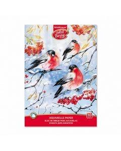 Aquarelle paper ArtBerry Snowbirds , 10 sheets