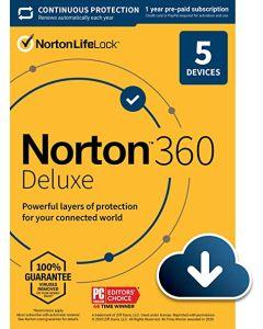 NORTON 360 Deluxe 50GB 5 Devices (AR21405129)