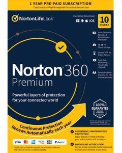 NORTON 360 Premium 75GB 10 Devices (A21405122)