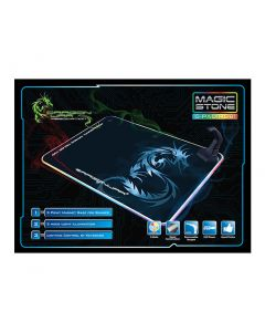 DragonWar GP-007 Pro-Gaming RGB Mouse Pad with Bungee