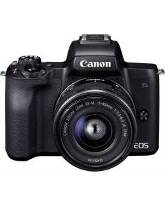 CANON EOS M50 Mirrorless Digital Camera with 15-45 mm Lens - Black