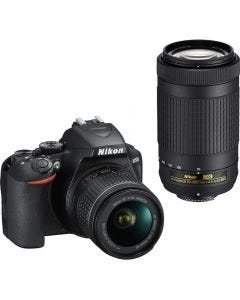 NIKON DSLR D3500 Camera with 2 Lens Kit 18-55 mm & 70-300 mm