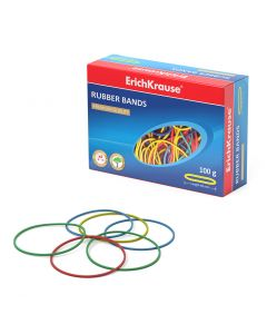 Rubber bands ErichKrause , 40 mm, assorted (box 100 g)