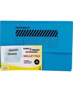 Wallet File   single Pocket F4  BLUE