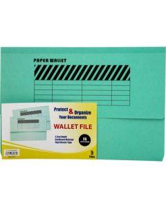 Wallet File   single Pocket F4  GREEN