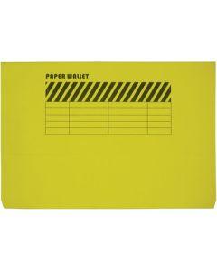 Wallet File   single Pocket F4  YELLOW
