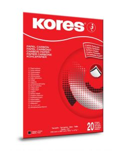 Kores Carbon Paper Black A4 21x29.7cm in folder with 20 sheets