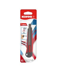 Kores KCS9 Cutter 9mm Metal with softgrip auto-lock blade
