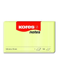 Kores Notes 125x75mmYellow block of 100 sheets