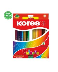 Kores KOLORES hexagonal 3mm with name field 24 pencils and sharpener