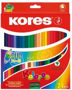 Kores KOLORES DUO triangular 24 color pencils