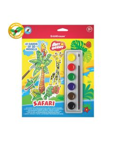 3D puzzles Art Berry Safari 2 pcs. with 3D models and watercolors 6 colors