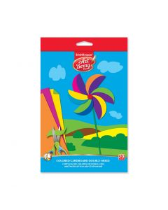 Double-sided colored cardboard ArtBerry , B5, 10 sheets, 20 colors