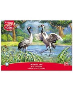 Drawing pad ArtBerry Exotic Birds , 20 sheets
