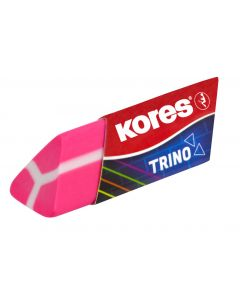 Kores TRINO Triangular design eraser Neon colours mixed