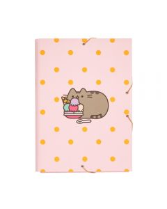 PUSHEEN CARPETA SOLAPAS Filing Folder Elastic rubber closure and 12 compartments size 34 x 25.5 cm