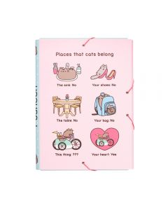 A4 FOLDER ELASTIC PUSHEEN THE CAT