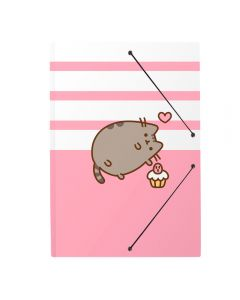 A4 FOLDER RUBBER PUSHEEN ROSE COLLECTION