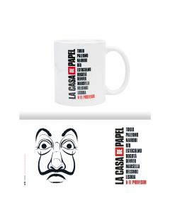 MUG LA CASA DE PAPEL MÁSCARA 300ML