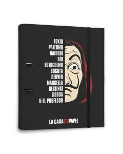 PREMIUM 2 RING BINDER FILE FOLDER LA CASA DE PAPEL