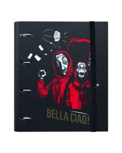 PREMIUM 4 RING BINDER FILE FOLDER LA CASA DE PAPEL
