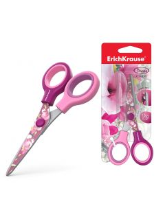 Scissors ErichKrause Junior Decor Magnolia with printing on blades, 13 cm (1 pcs in blister)
