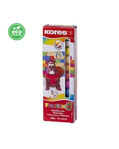 Kores PLASTILINA Modelling Clay 10 colours 200g