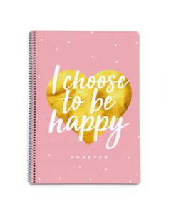 GLITTER STARS NOTEBOOK A4 HARDCOVER squared 5X5mm 160 pages