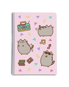 PUSHEEN THE CAT 2 SPIRAL NOTEBOOK A4 HARDCOVER squared 5X5mm, 160 pages