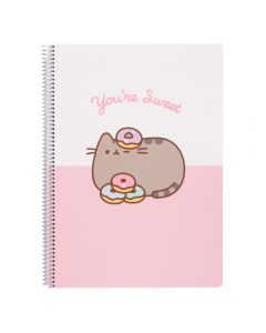 PUSHEEN ROSE COLLECTION NOTEBOOK A4 POLYPROPYLENE squared 4x4mm, 160 pages